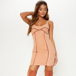 New! Pretty little thing • Suede bodycon dress